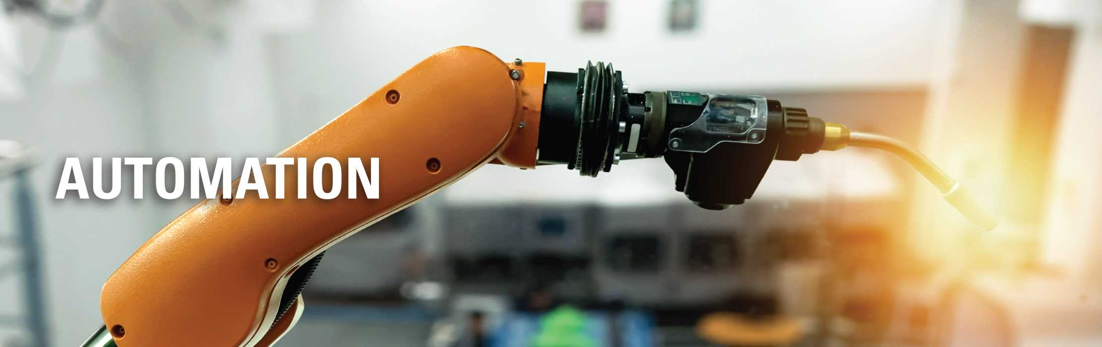 A robot arm with a torch: Automation.